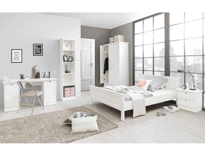 expendio Jugendzimmer-Set »Landström 172«, (Spar-Set, 5-St), Landhausstil weiß Bett 140x200 cm