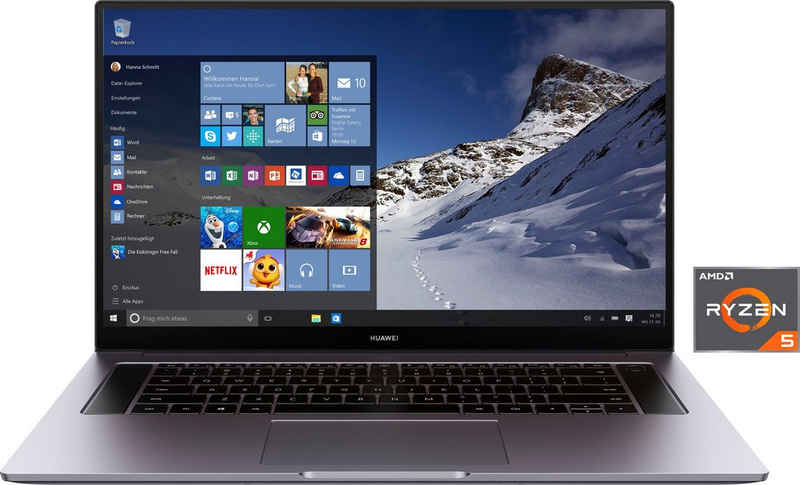 Huawei MateBook D16 Notebook (40,89 cm/16,1 Zoll, AMD Ryzen 5 4600H, 512 GB SSD, 24 Monate Herstellergarantie)