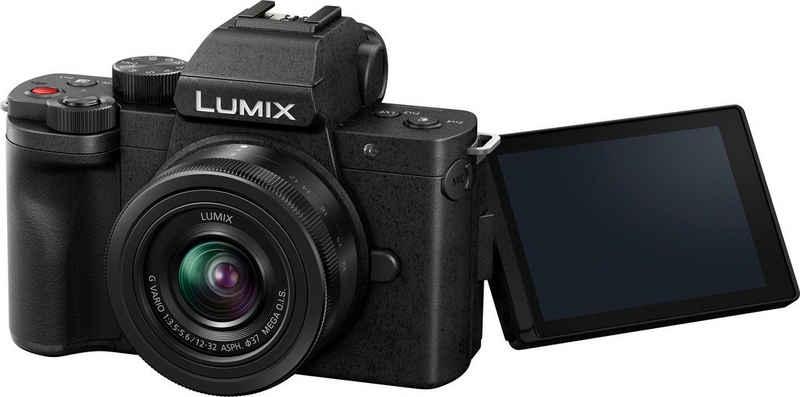 Lumix Panasonic »LUMIX DC-G110KEG-K« Systemkamera (LUMIX G VARIO 12–32mm / F3,5–5,6 ASPH. /MEGA O.I.S., 20,3 MP, Bluetooth, WLAN (WiFi)