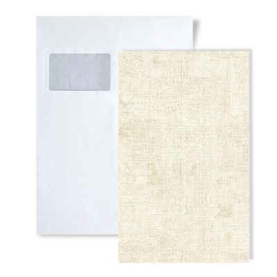 Edem Prägetapete »S-9093-10«, glänzend, unifarben, Spachtel-Optik, (1 Musterblatt, ca. A5-A4), creme, weiß