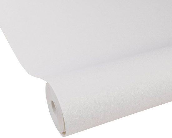 WOW Vliestapete »UniShotblast«, Weiß, 52cm x 10m