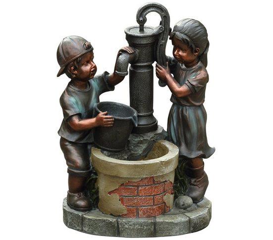Dehner Gartenbrunnen »Kim & Tim mit LED-Beleuchtung, 61 x 45 x 29.5 cm«
