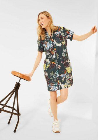 Cecil Suknelė-marškiniai su gėlėtas Print