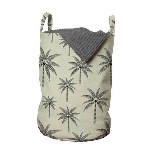 Abakuhaus Wäschesack »Wäschekorb mit Griffen Kordelzugverschluss für Waschsalons«, Palme Vintage tropische