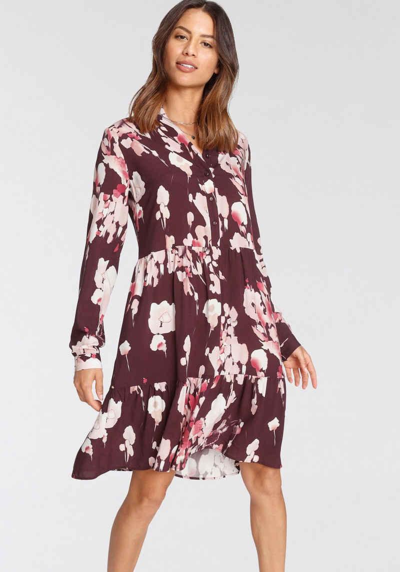 Tamaris Blusenkleid mit Rüschendetail am Kragen - NEUE KOLLEKTION