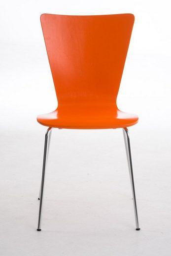 CLP Besucherstuhl »Aaron« (2er Set), mit ergonomisch Holzsitz und Metallgestell