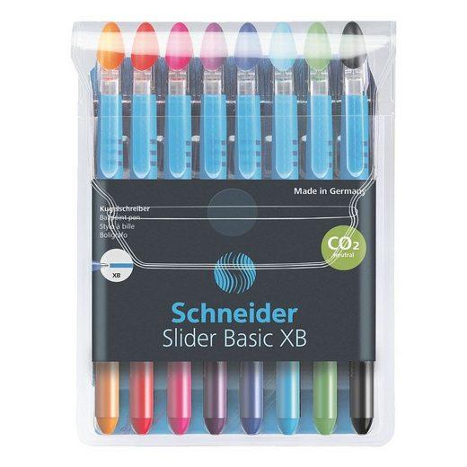 Schneider Kugelschreiber »Slider XB 151298«, (8-tlg), schnelltrocknend