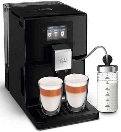 Krups Kaffeevollautomat EA8738 Intuition Preference, inkl. Milchbehälter und smartphoneähnlichem Farb-Touchscreen; 11 einstellbare Getränkeoptionen