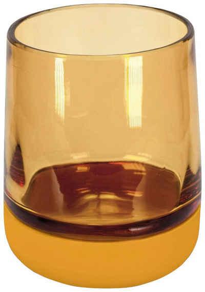 Kleine Wolke Zahnputzbecher »Belly«, (1-St), hochwertige Accessoire Serie aus Glas mit Silikon Fuß