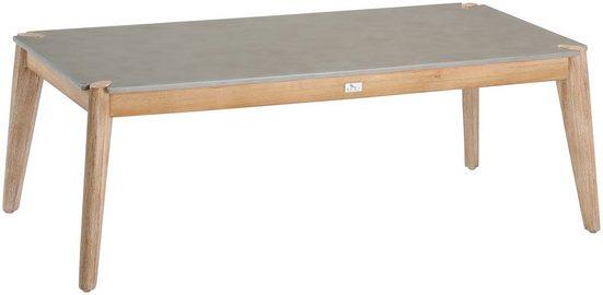 BEST Loungetisch »Samos«, Eucalyptus/Beton, LxB: 120x60 cm