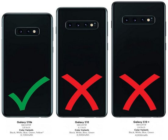 Burkley Flip Case »Samsung Galaxy S10e Leder Handyhülle Handytasche«
