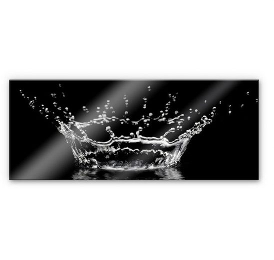 Wall-Art Küchenrückwand »Wassertropfen - Panorama Bild«, (1-tlg)