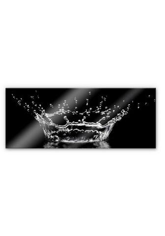 Wall-Art Küchenrückwand »Wassertropfen - Panora...