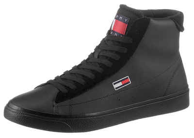 Tommy Jeans »RETRO VULC HIGH TJM LEATHER« Sneaker mit Flag-Stickerei