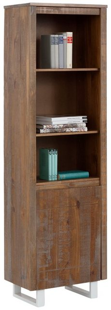 Regale - Home affaire Bücherregal »Lagos«, aus schönem massivem Kiefernholz, grifflos, Breite 55 cm  - Onlineshop OTTO