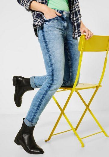 Cecil Loose-fit-Jeans mit Kontrastdetail an den Seitennähten