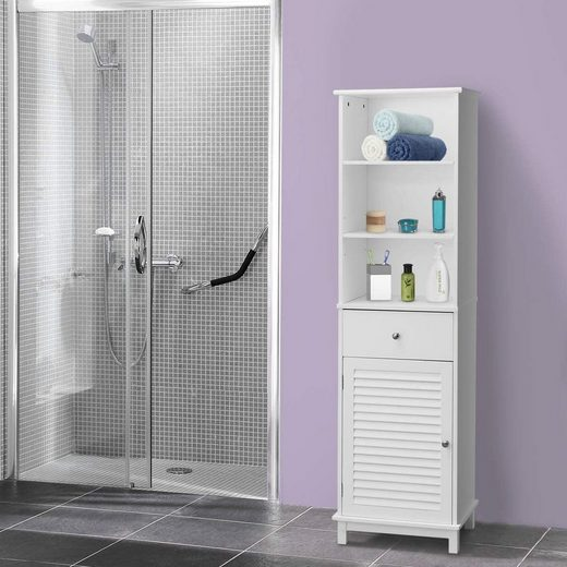 costway hochschrank »hochschrank« badezimmerschrank online