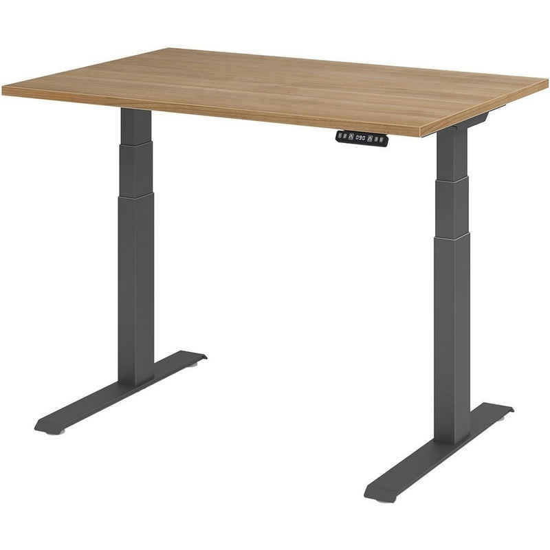 HAMMERBACHER Schreibtisch »Upper Desk«, elektrisch höhenverstellbar bis 129 cm, Gestell grahitfarben
