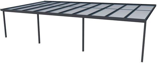 GUTTA Terrassendach »Premium«, BxT: 1014x506 cm, Dach Acryl bronce