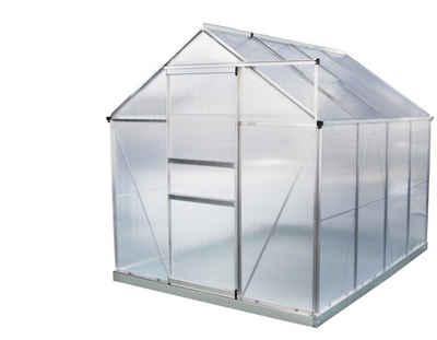 VaGo-Tools Gewächshaus »Gewächshaus Aluminium mit Fundament Treibhaus«