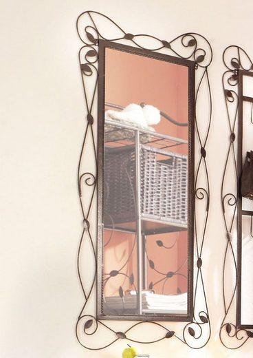 Home affaire Spiegel, aus Metall mit aufwendigen Verzierungen