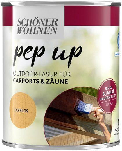 SCHÖNER WOHNEN-Kollektion Lasur »pep up Outdoor«, für Carports & Zäune, bis zu 6 Jahre Dauerschutz, farblos, seidenglänzend, 1 l