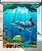 Sanilo Duschvorhang »Delphin Korallen« Breite 180 cm, Höhe 200 cm, Bild 1