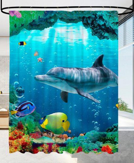 Sanilo Duschvorhang »Delphin Korallen« Breite 180 cm, Höhe 200 cm