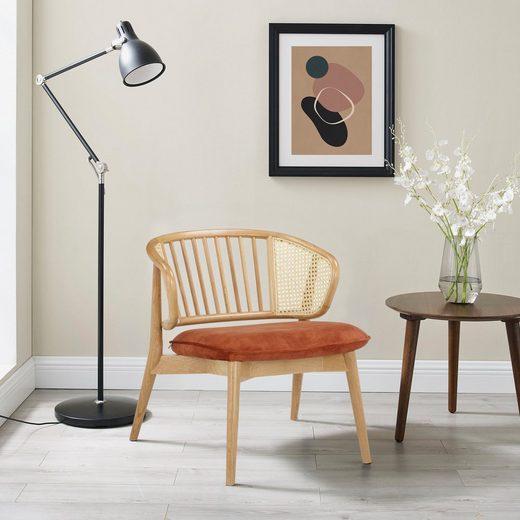 andas Armlehnstuhl »Orwik«, mit Rattan-Einsätzen in der Rückenlehne, Design by Morten Georgsen, Lounge chair