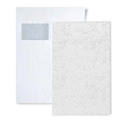 Edem Strukturtapete »S-80333BR60«, grafisch, matt, Strukturmuster, (1 Musterblatt, ca. A5-A4), weiß