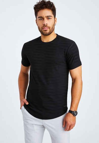 Leif Nelson T-Shirt »Herren T-Shirt Rundhals LN-55285«