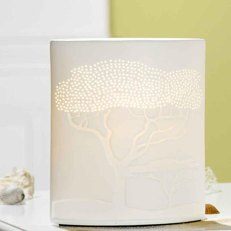 GILDE Nachttischlampe »Lampe Savanne H20cm DE3305WE«