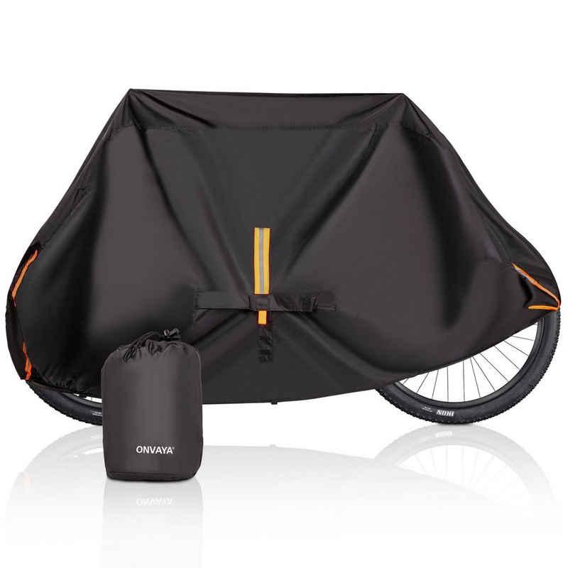 ONVAYA Fahrradschutzhülle »Premium Fahrradabdeckung für 2 Fahrräder, wasserdichte Fahrradplane, Fahrradgarage, Fahrradhülle für Wohnmobile & Heckträger geeignet, Fahrrad-Regenschutz & UV-Schutz«