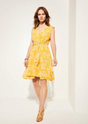 Comma Minikleid »Chiffon-Kleid mit floralem Print«