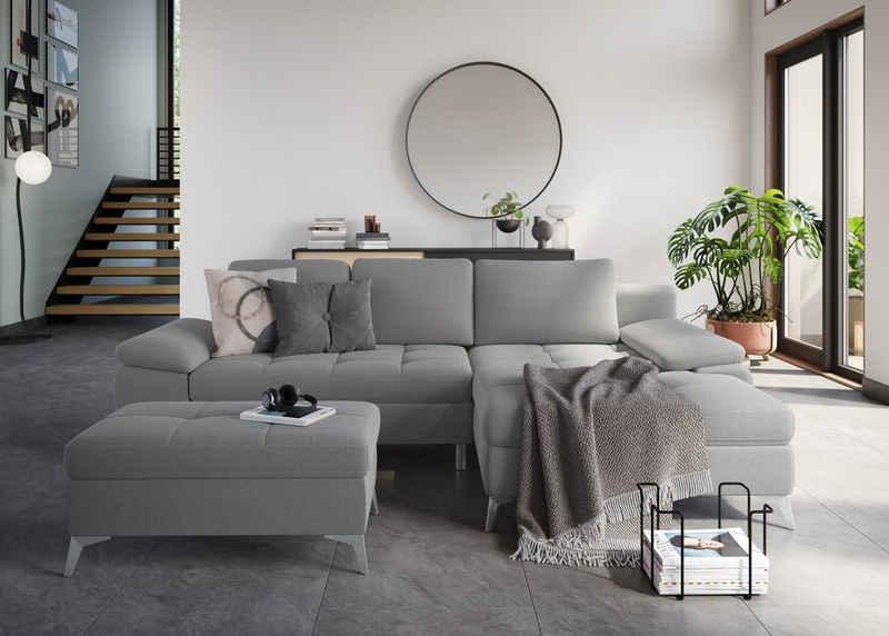 sit&more Ecksofa, mit Recamiere, wahlweise mit Bettfunktion und Bettkasten