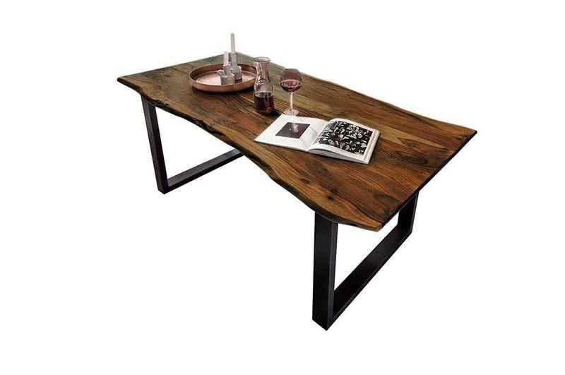 SAM® Baumkantentisch »Kapalua«, Tisch Baumkante 120 x 80 cm schwarz