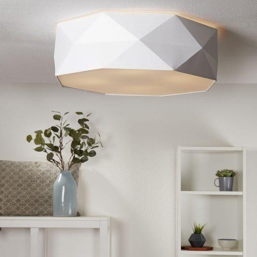 famlights Deckenleuchte », Deckenleuchte Samuel aus Stoff in Weiß 4xE27«, Deckenlampe, Deckenbeleuchtung, Deckenlicht