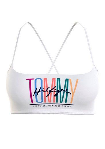 Tommy Hilfiger Bustier-Bikini-Top, mit geschnürtem Rücken