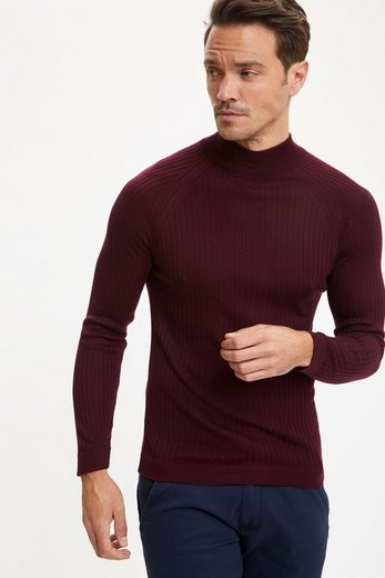 DeFacto Rollkragenpullover »DeFacto Herren Pullover Slim Fit Turtleneck Knitwear Sweater SLIM FIT TURTLE NECK«