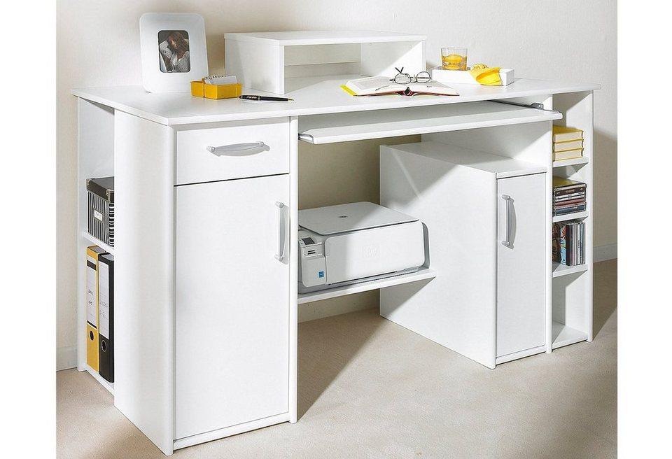 maja m bel schreibtisch main mit tastaturauszug und 6 offenen f chern online kaufen otto. Black Bedroom Furniture Sets. Home Design Ideas