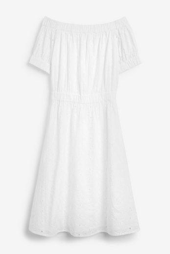 Next Strandkleid »Schulterfreies Kleid mit Lochstickerei« (1-tlg)