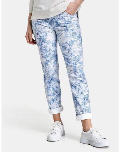 GERRY WEBER Stretch-Jeans »Gemuserte Jeans Regular Fit« (1-tlg) Hose