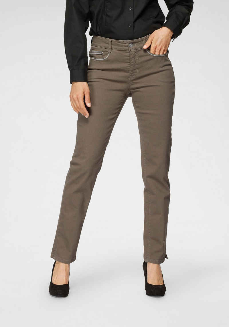 MAC Slim-fit-Jeans »Angela Pipe Embro« Mit aufwendiger Sticherei auf den vorderen und hinteren Taschen