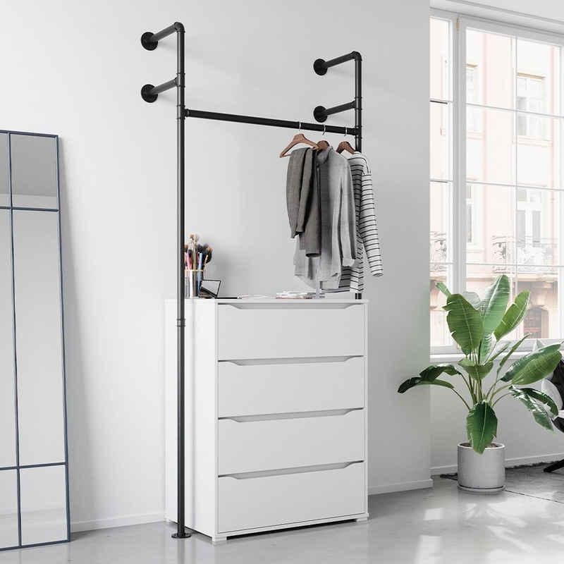 Vicco Kleiderstange »Loft ILIARA Garderobe Kleiderschrank offen begehbar 90 cm«
