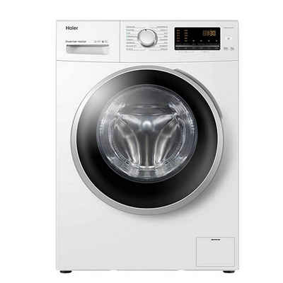 Haier Waschmaschine HW90-BP1439N, 9 kg, 1400 U/min, Mengenautomatik, Kindersicherung, AquaProtect Schlauch