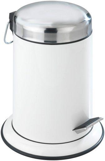 WENKO Kosmetikeimer »Retro weiß«, Edelstahl rostfrei, 3 Liter