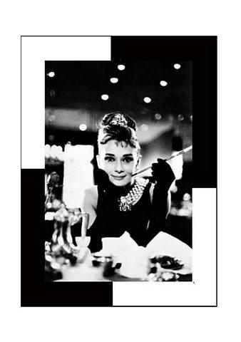 Home affaire Wandbild »Audrey Hepburn, Frühstück bei Tiffany« in schwarz