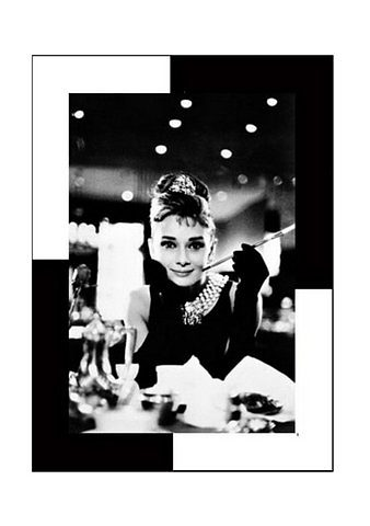 Home affaire, Wandbild, »Audrey Hepburn, Frühstück bei Tiffany«, 72/102 cm
