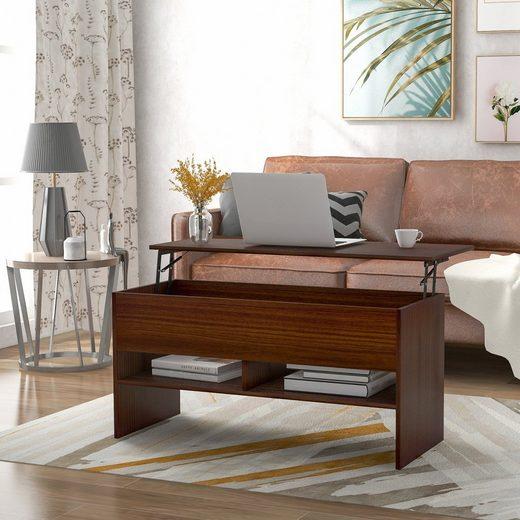 Fortuna Lai Couchtisch »Couchtisch« (ausziehbarer Schließfach, Sofatisch für Wohnzimmer), mit höhenverstellbarer Platte
