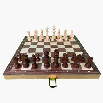 goki Spiel, Schach »Schachspiel in Holzklappkassette«, aus Holz